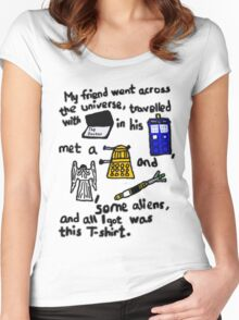 Tourist Doctor Who Tee 2 Women's Fitted Scoop T-Shirt