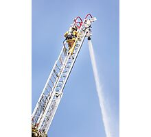 Ladder Fireman Photographic Print