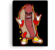 heavy metal hot dog Canvas Print