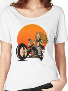 Lion, Cat, Biker - Motorcycles, Motorcycle Gear, Bikes Women's Relaxed Fit T-Shirt