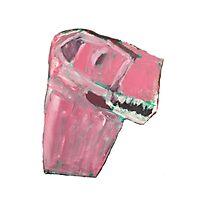Pink Dino Photographic Print