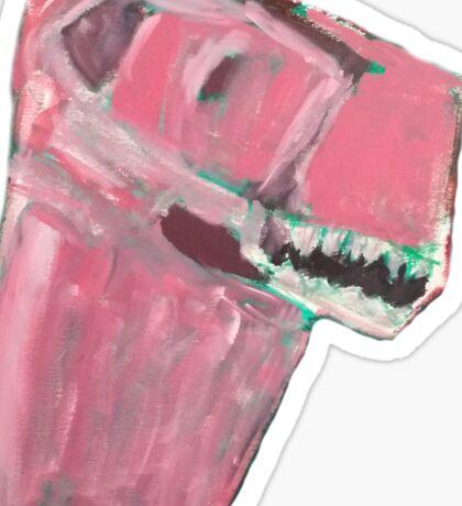 Pink Dino Sticker