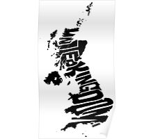 United Kingdom Black Poster