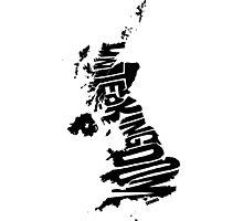 United Kingdom Black Photographic Print