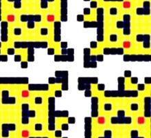 8-bit pikachu Sticker