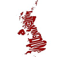 United Kingdom Red Photographic Print