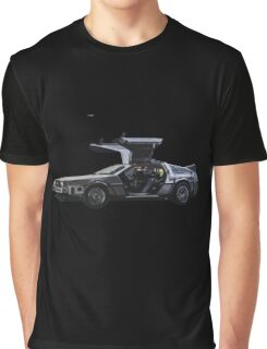 Back to the future Delorian car Graphic T-Shirt
