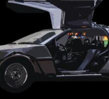 Back to the future Delorian car Sticker