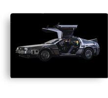 Back to the future Delorian car Canvas Print