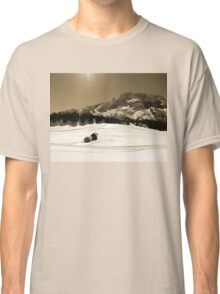 Little Snowy Hut by Mountains Classic T-Shirt
