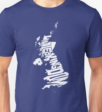 United Kingdom White Unisex T-Shirt