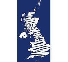 United Kingdom White Photographic Print