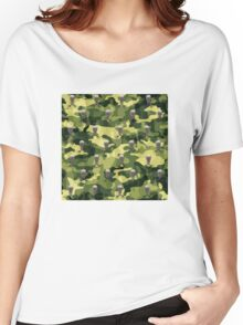 Military Camouflage Background Women's Relaxed Fit T-Shirt