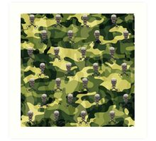 Military Camouflage Background Art Print