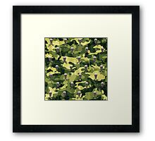 Military Camouflage Background Framed Print