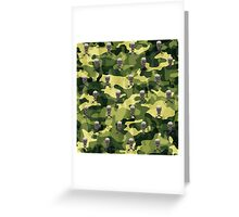 Military Camouflage Background Greeting Card