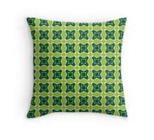 Geometric Stars Masculine Funky Lime and Greens Throw Pillow