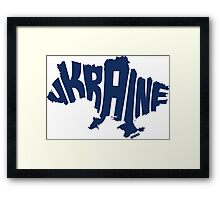 Ukraine Blue Framed Print