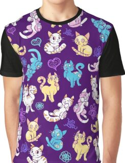 Colourful Kitty cat pattern Graphic T-Shirt