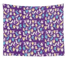 Colourful Kitty cat pattern Tenture murale