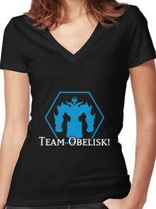 Team Obelisk - Yu-Gi-Oh! Women's Fitted V-Neck T-Shirt