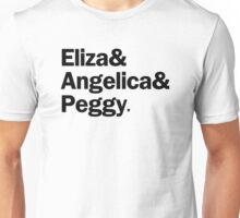Hamilton - Eliza & Angelica & Peggy | White Unisex T-Shirt