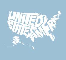 USA White One Piece - Short Sleeve