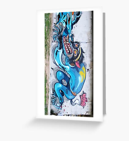 Graffiti Wall. Greeting Card