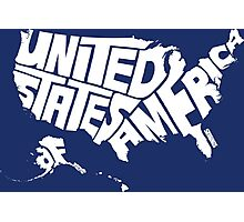 USA White Photographic Print