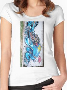 Graffiti Wall. Women's Fitted Scoop T-Shirt