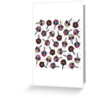 Funny Cute Colorful Unicorn Donut with Sunglasses Greeting Card