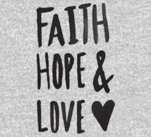 Faith Hope and Love One Piece - Long Sleeve