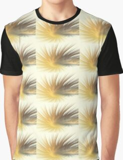 Gold Feather Plumes Graphic T-Shirt
