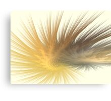 Gold Feather Plumes Canvas Print