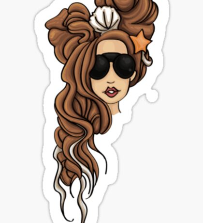 Lady Gaga Seashell Dreads Sticker