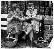 Knitting for the war Poster