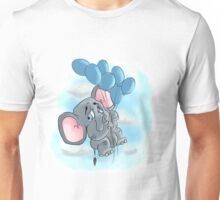 up and away elephant balloon Unisex T-Shirt