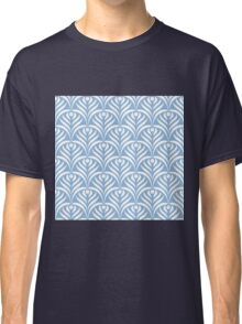 Art deco,scale pattern,powder blue,white,floral,vintage,1920 era,chic,elegant,trendy,modern,girly Classic T-Shirt
