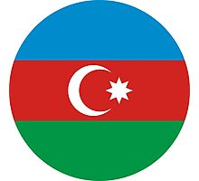 Roundel of Azerbaijani Air Forces  Photographic Print