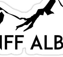 BANFF ALBERTA CANADA Skiing Ski Mountain Mountains Snowboard Boating Hiking Sticker