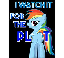 My Little Pony Rainbow Dash Plot Photographic Print