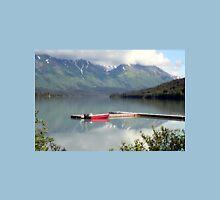 Boat on Trail Lake, Alaska Unisex T-Shirt