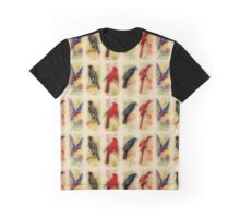 Vintage Birds Graphic T-Shirt