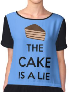 The Cake Is A Lie Chiffon Top