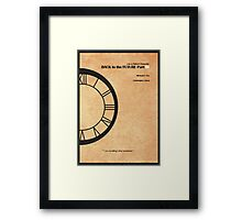 Back to the Future Part III Framed Print