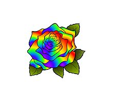 Rainbow Roses by Vickie Emms