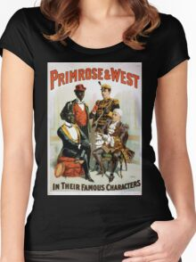 Performing Arts Posters Primrose West in their famous characters 1732 Women's Fitted Scoop T-Shirt
