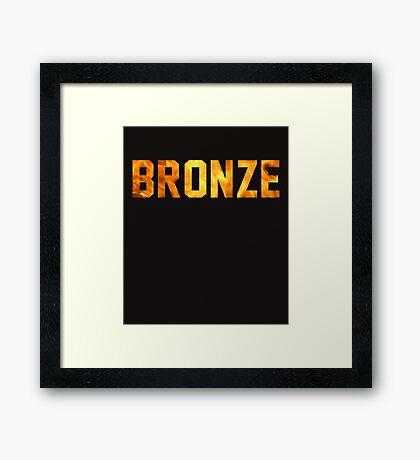 Bronze Tier  Framed Print