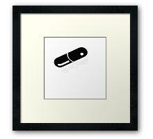 Akira pill Framed Print
