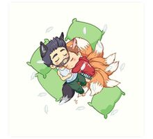 Sleepy Sterek Art Print